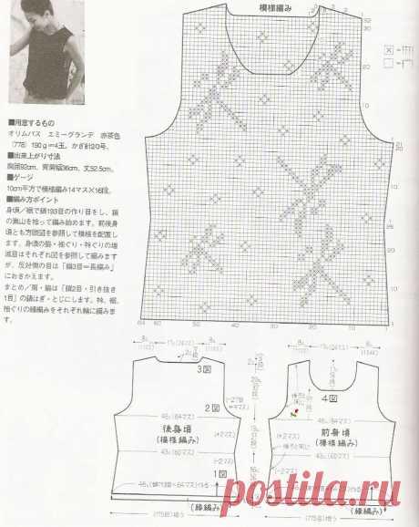 Черные женские топы филейной техникой крючком - Пошивчик одежды