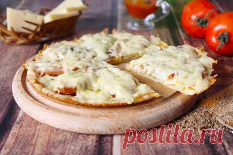 Пицца Минутка на сковороде быстрая и простая рецепт с фото пошагово