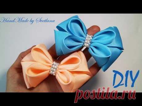 Bantik de la cinta de reps de Kanzashi DIY Grosgrain Ribbon bow Laço de Fita de Gorgurão