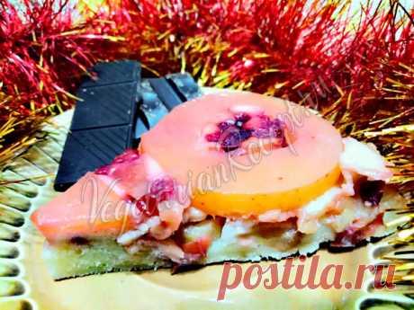 Пирог с яблоками и брусникой - рецепт с фото пошагово