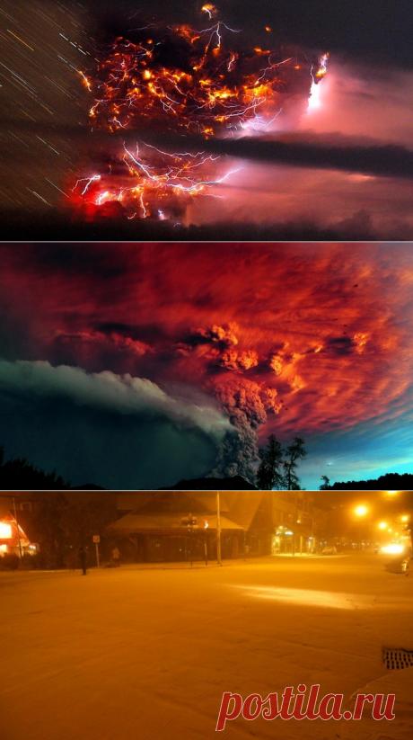 Извержение вулкана Пуйеуэ (14 фото)   Верикси.ру