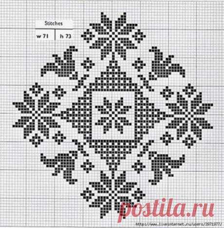 Филейные схемы с цветочными узорами в форме ромба для вязания крючком