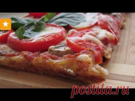 Very tasty and fast pizza on the test without yeast and eggs. Healthy food