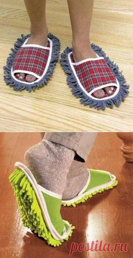 Домашние тапочки, в которых можно ходить по дому и заниматься уборкой одновременно.