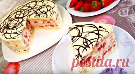 Вкусный торт без выпечки «ЗАГАДКА» всего за 5 минут