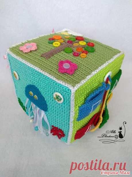 . Развивающий кубик крючком или куда пристроить остатки пряжи - Вязание - Страна Мам