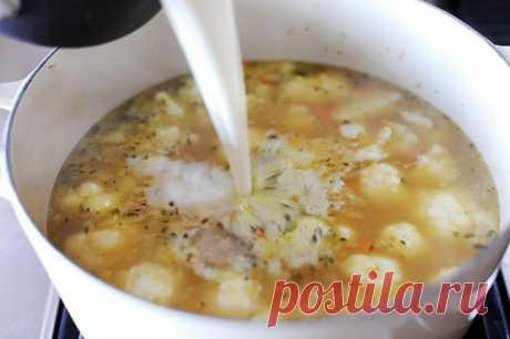 Суп из цветной капусты | Русская кухня