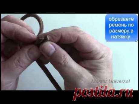 Кожаный ремень на ножную швейную машину. Как соединить. Видео №76.