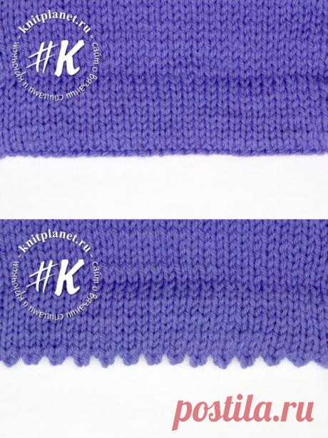 Для оформления низа изделия, вязаного спицами, чаще всего используют различные виды резинок. Вместе с тем, оформление низа с подогнутым краем позволяет разнообразить приемы вязания и особенно подходит для оформления низа изделия и низа рукавов кофт и жакетов. Предлагаем вашему вниманию урок по вязанию прямой подгибки и подгибки с зубчиками.