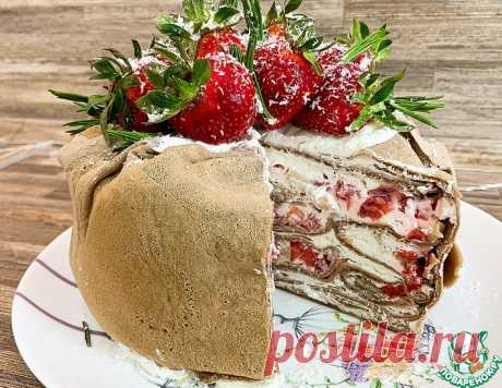 Блинный торт со сливочным кремом – кулинарный рецепт