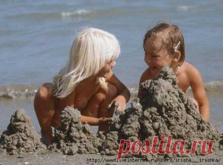 Игры с детьми на пляже.