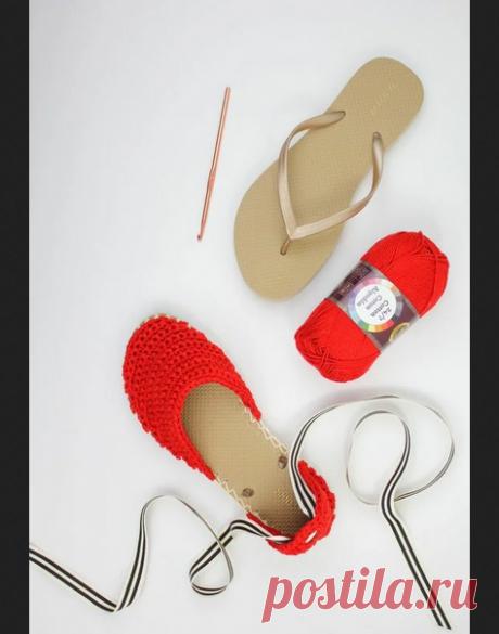 Вязаные эспадрильи своими руками DIY Модная одежда и дизайн интерьера своими руками
