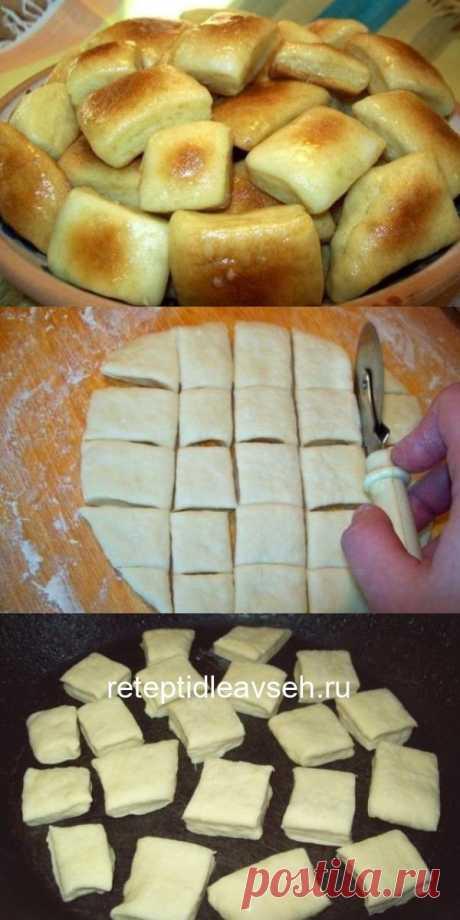 Пампушки на кефире с чесночным саламуром.