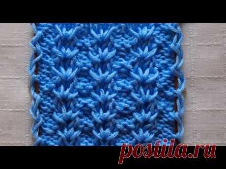 Простой узор спицами для начинающих. Легкои быстро! Урок 215 Simple knitting pattern