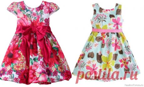 Выкройка детского летнего платья на возраст от 3 месяцев до 16 лет | Швейная мастерская