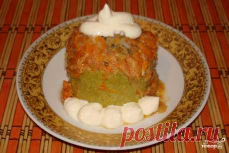 Vegetable marrows with forcemeat and rice - the step-by-step recipe from a photo on Повар.ру