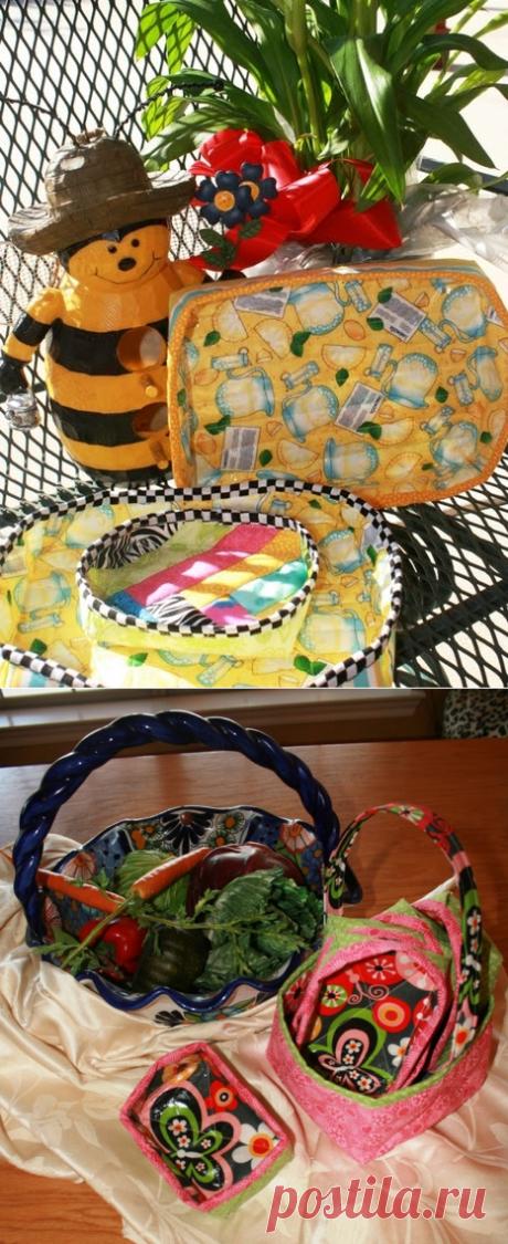 Лоскутные мелочи и не только.....: Сшить корзинку из ткани
