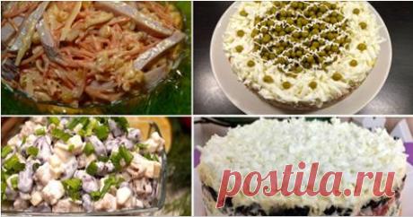 Коллекция замечательных праздничных салатов Эти салаты станут украшением вашего праздничного Новогоднего стола! Вкусно - не то слово!