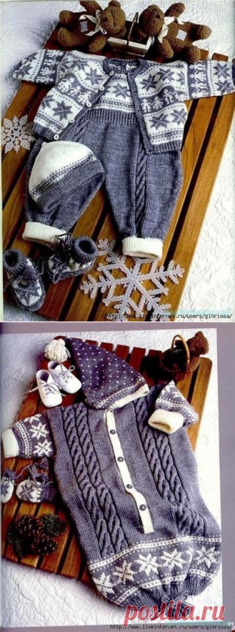 Красивый комплект для малыша спицами — Красивое вязание