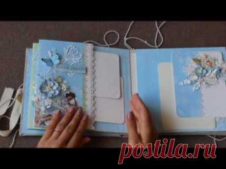 Заказать детский фотоальбом ручной работы.Фотоальбом «Наш сыночек»