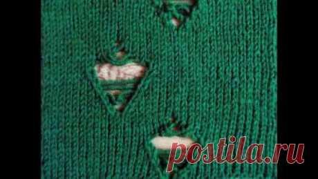 Рваный узор Вяжем эффектные дырки для рваных свитеров. Схема узора: https://vk.com/clubvyagemvse?z=photo-144509492_456239570%2Fwall-144509492_946 Описание узора: https:/...