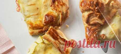 Пирог с творогом и яблоками. Рецепт Яблоки нарезать тонкими дольками.