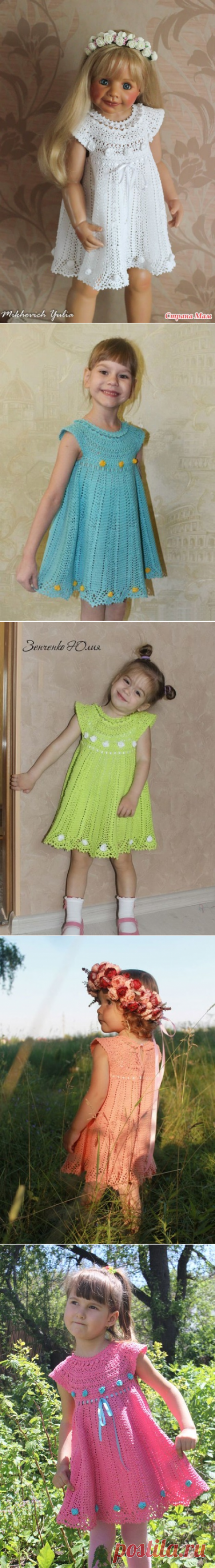 """Master class of week a dress for the girl a hook """"Бонни"""" - Fair CM - the Country of Mothers"""