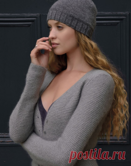 Простая вязаная шапка | ДОМОСЕДКА