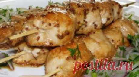 Шашлык из курицы, приготовленный в духовке Родные просят приготовить каждые выходные!