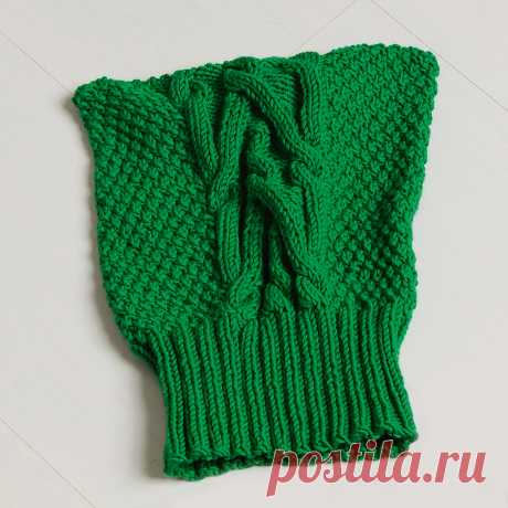 Детская шапка с узором «Коса» - схема вязания спицами с описанием на Verena.ru