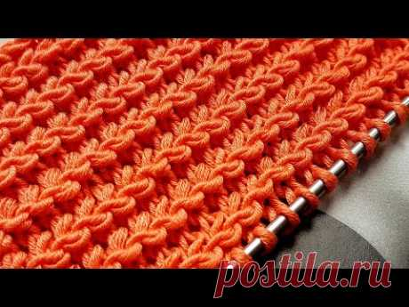 3D узор спицами ,,Лилии,, 🌺 crochet pattern.