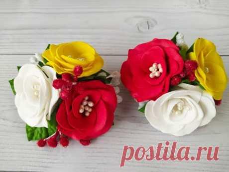 Цветочки из Фоамирана для НОВИЧКОВ!🐞🌷