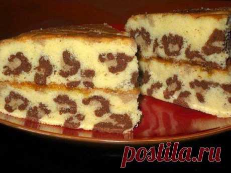 Леопардовый кекс - красота не уступает вкусу