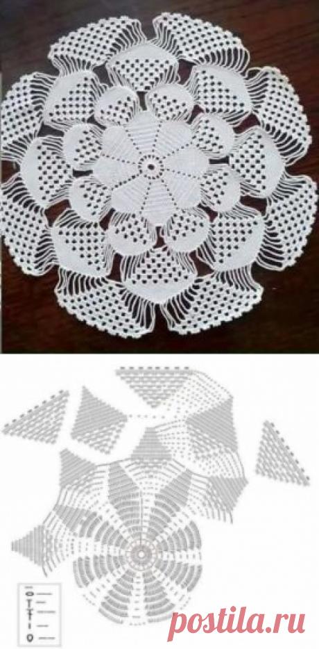 Napkin 3D - Knitting (schemes on all models)