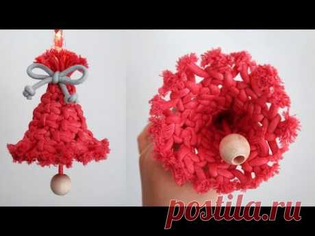 DIY Macrame Christmas Bell / Macrame Christmas Ornament / 마크라메 크리스마스 오너먼트 / - YouTube