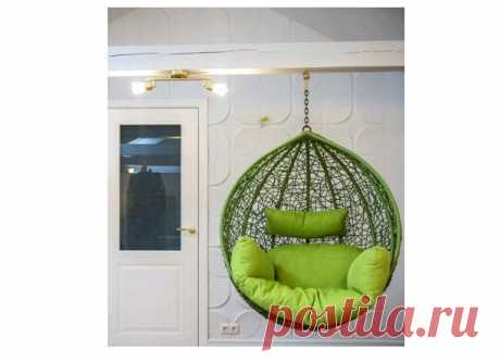 Купить подвесное кресло шар к потолку из искусственного ротанга