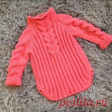 Вяжем детский пуловер