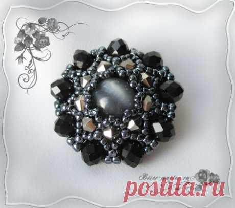"""Brooch \""""The stone fairy tale\"""""""
