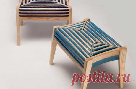 75% control: деревянный табурет с секретом На первый взгляд кажется, что этот стул обтянут тканью. Но если присмотреться, то становится понятным, что на самом деле это не так.