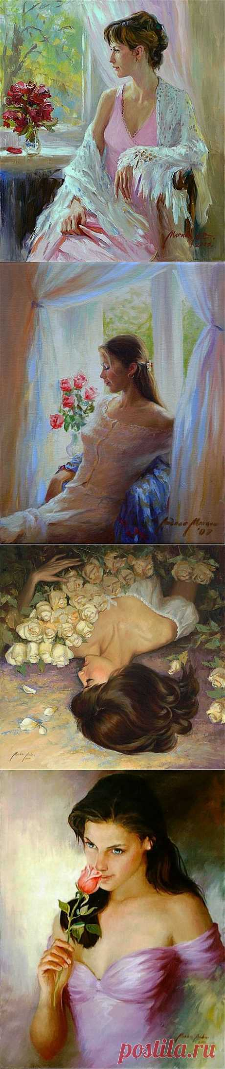 Женские образы на картинах Андрея Маркина