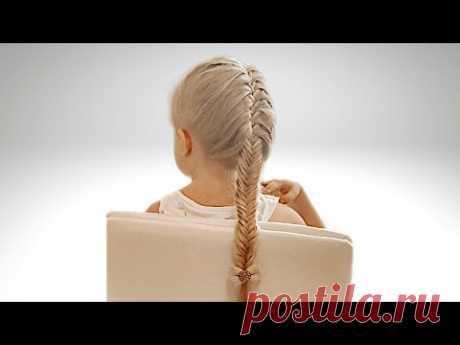Прическа рыбий хвост. Плетение кос. - YouTube