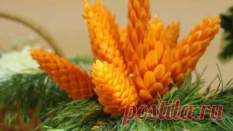 Шишки из моркови для новогоднего стола: мастер-класс . Милая Я
