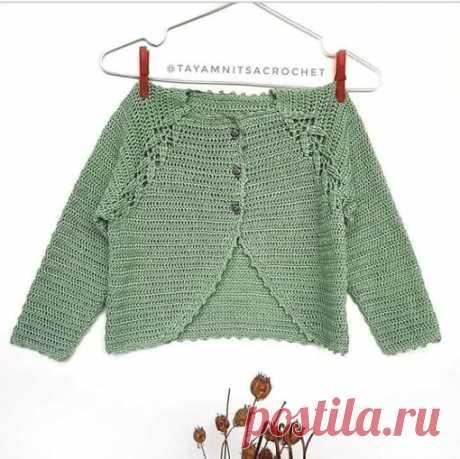 Идея. Красивый реглан - интересная кофточка  #идея_@crochet_group #кофточка #реглан