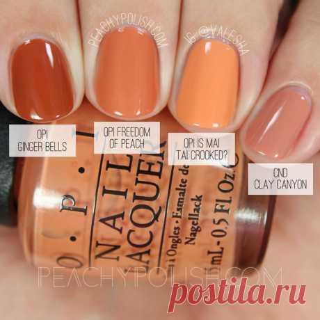 OPI Freedom Of Peach   Washington D.C. Collection Comparisons   Peachy Polish