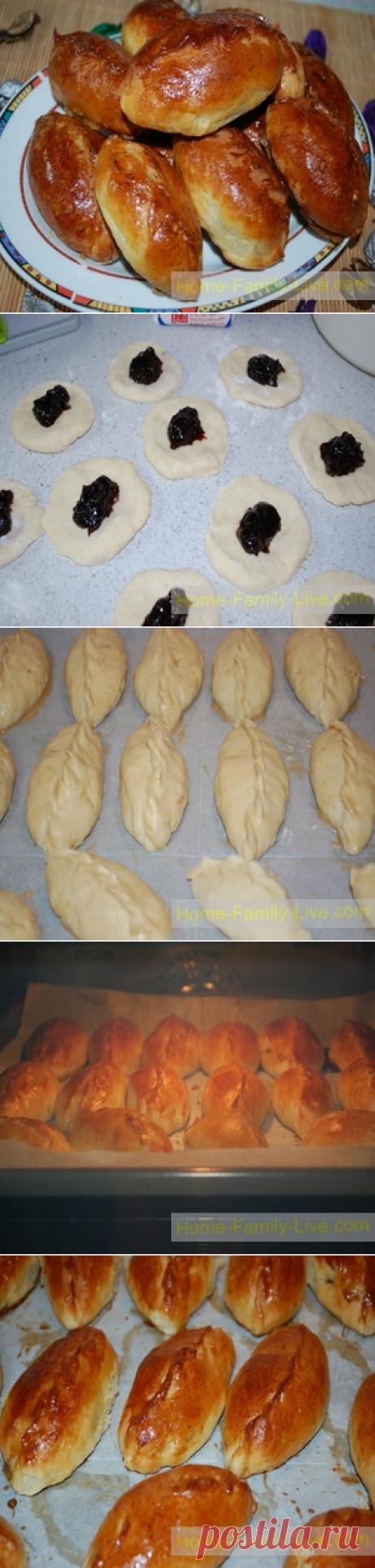 Пирожки с повидлом - пошаговый рецепт - сладкая выпечкаКулинарные рецепты