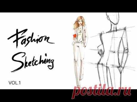 Fashion sketching: Офисный стиль Часть 1. Построение женской фигуры в динамике