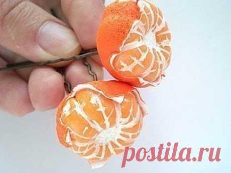 Las mandarinas de la arcilla polimérica