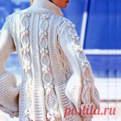 Вязаные пальто и кардиганы спицами   Всё лучшее - маме   Яндекс Дзен