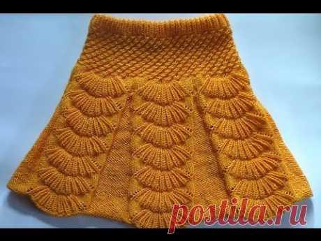La falda con bantovymi por los pliegues. La labor de punto sobre los rayos. Skirt with pleats spokes