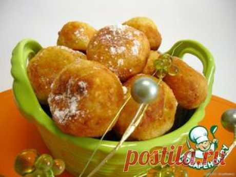 Творожные пончики с курагой - кулинарный рецепт